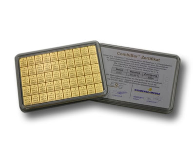 50 Grams Gold Combibar Easy Tradable Goldbars