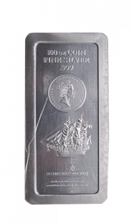 100 Troy Ounce Cook Islands Bounty zilver baren
