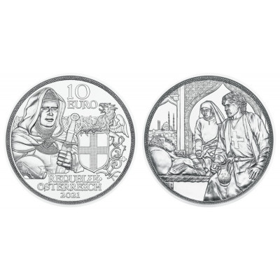 1/2 troy ounce zilveren munt Brotherhood 2021 Proof