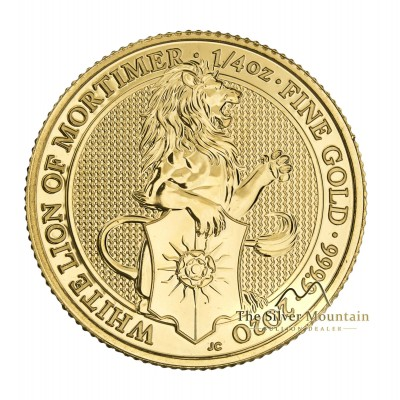 1/4 Troy ounce gouden munt Queens Beasts White Lion
