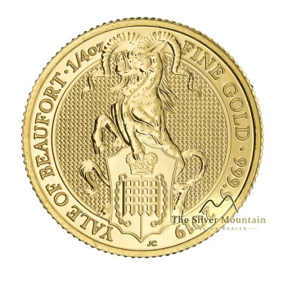 1/4 Troy ounce gouden munt Queens Beasts Yale of Beaufort 2019