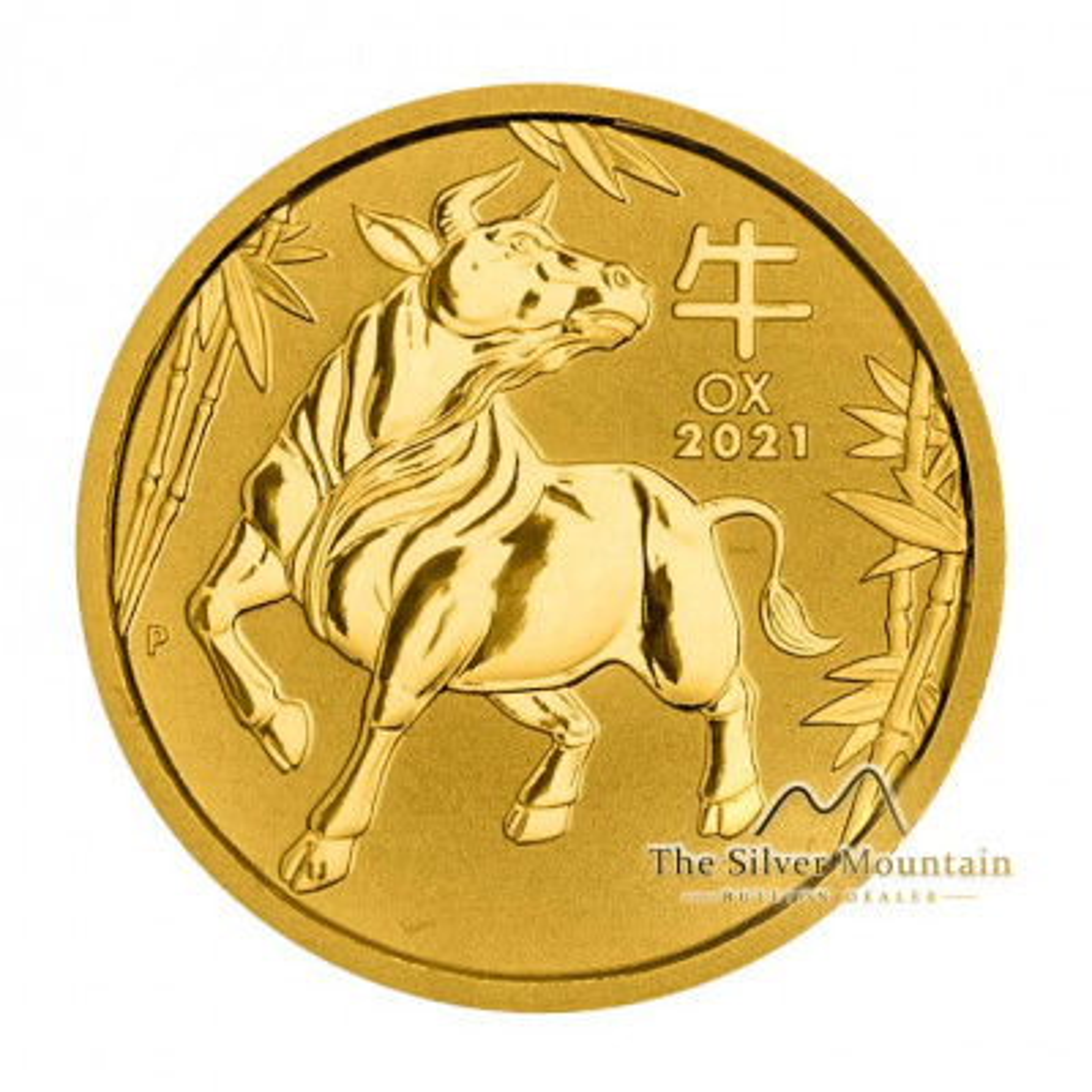 1/4 Troy ounce gouden munt Lunar 2021 - Os
