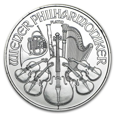 1 Troy ounce Platina Philharmoniker munt 2019