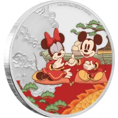 1 Troy ounce zilveren munt Disney Lunar Year of the Mouse 2020 - Good Fortune