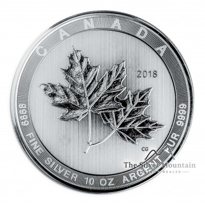 10 Troy ounce zilveren munt Maple Leaf 2018