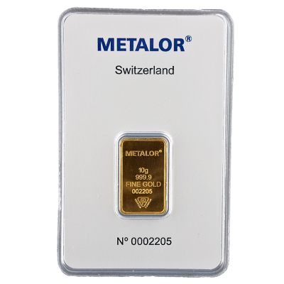 10 Gram goudbaar Metalor