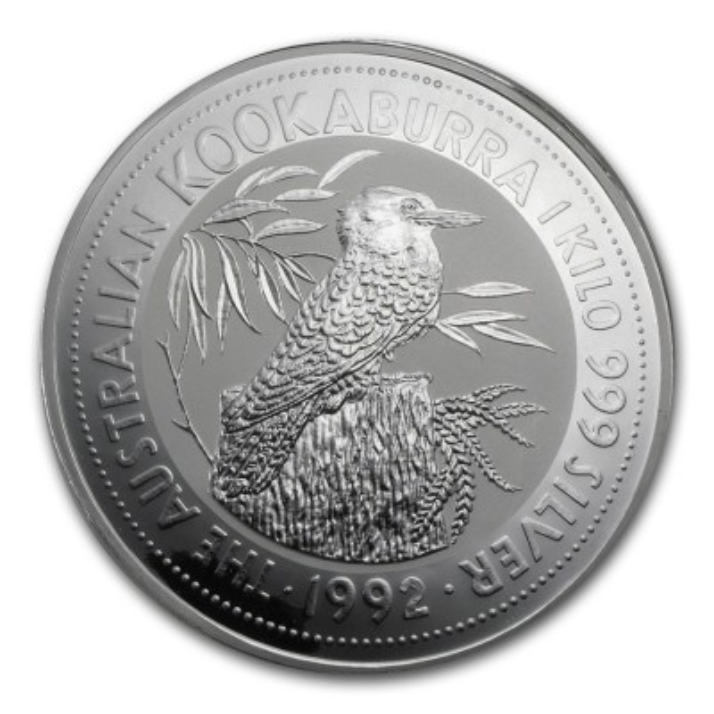 1 Kilo zilver munt Kookaburra 1992