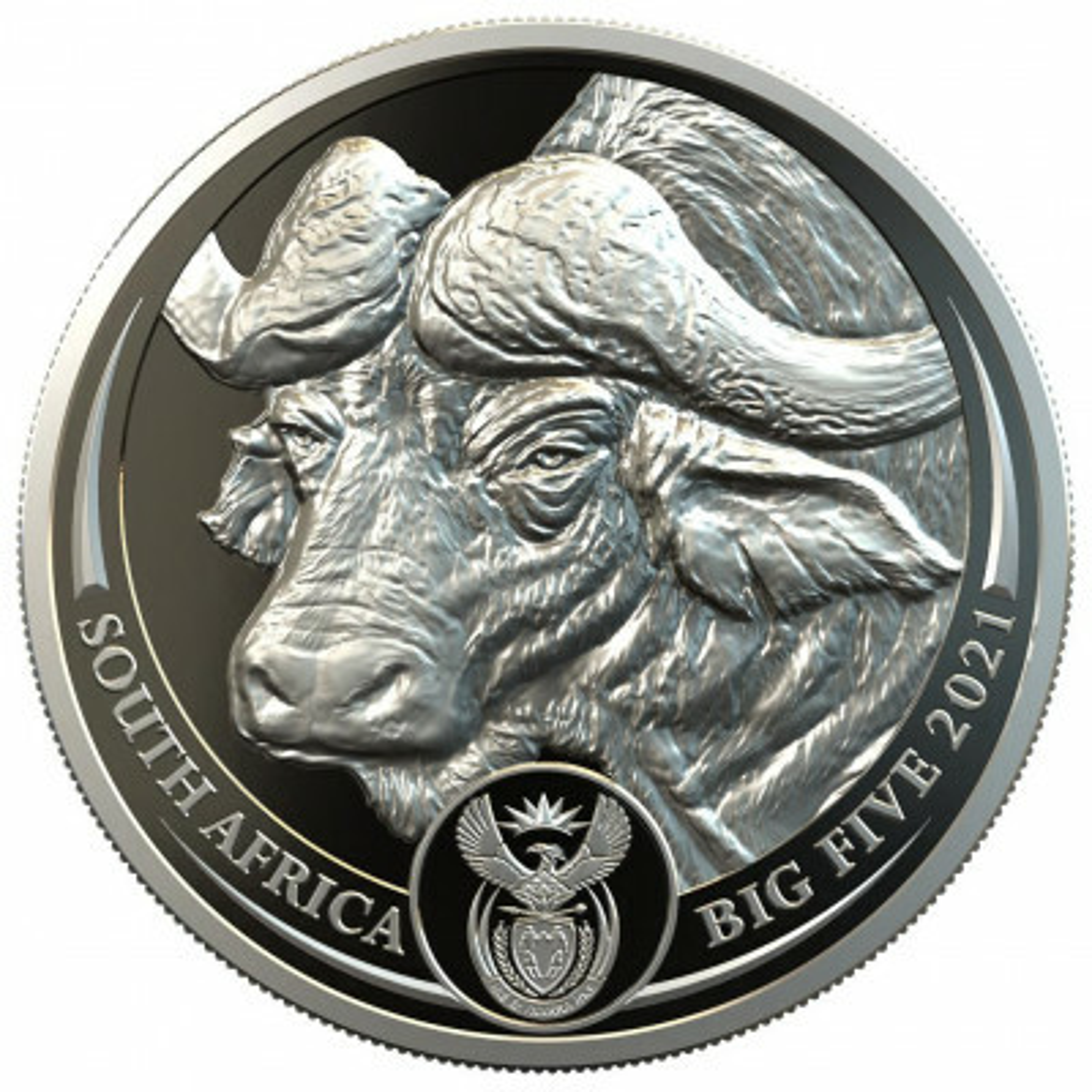 1 Troy ounce platina munt Big Five buffalo 2021 Proof
