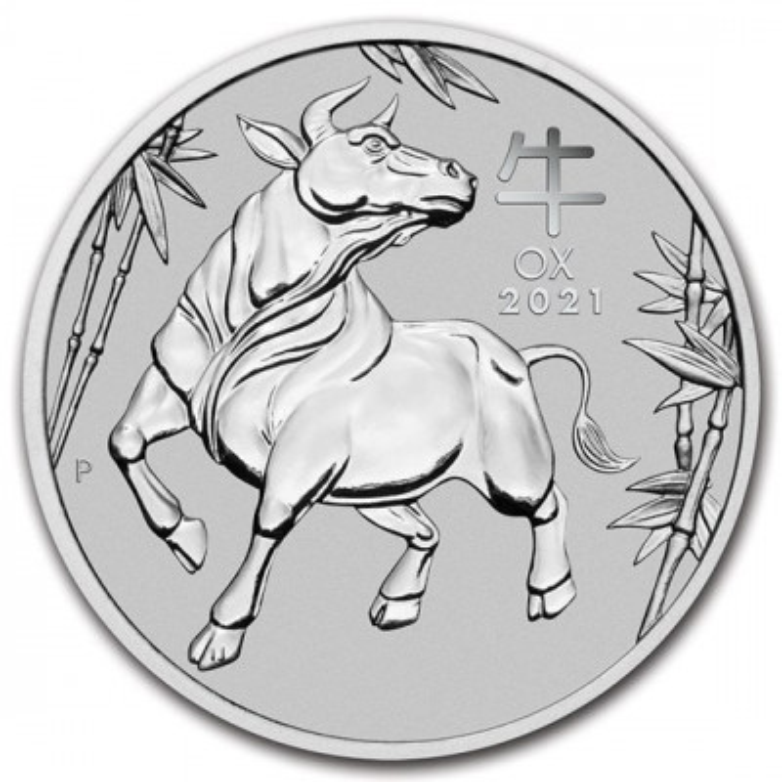 1 Troy ounce platina munt Lunar 2021