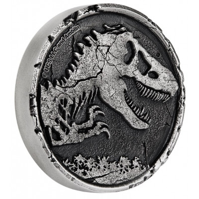2 troy ounce zilveren munt Jurassic World 2021