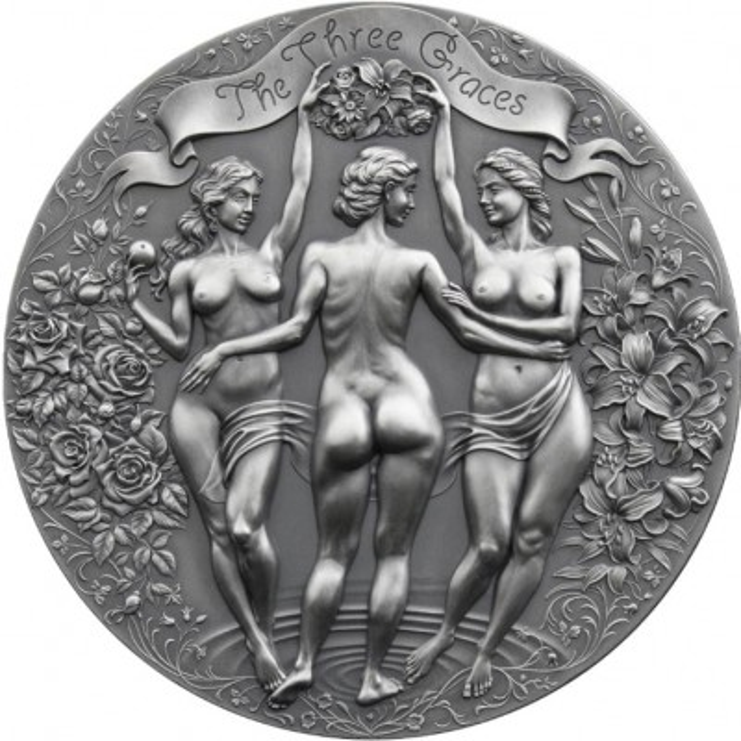 2 troy ounce zilveren munt Three Graces 2020