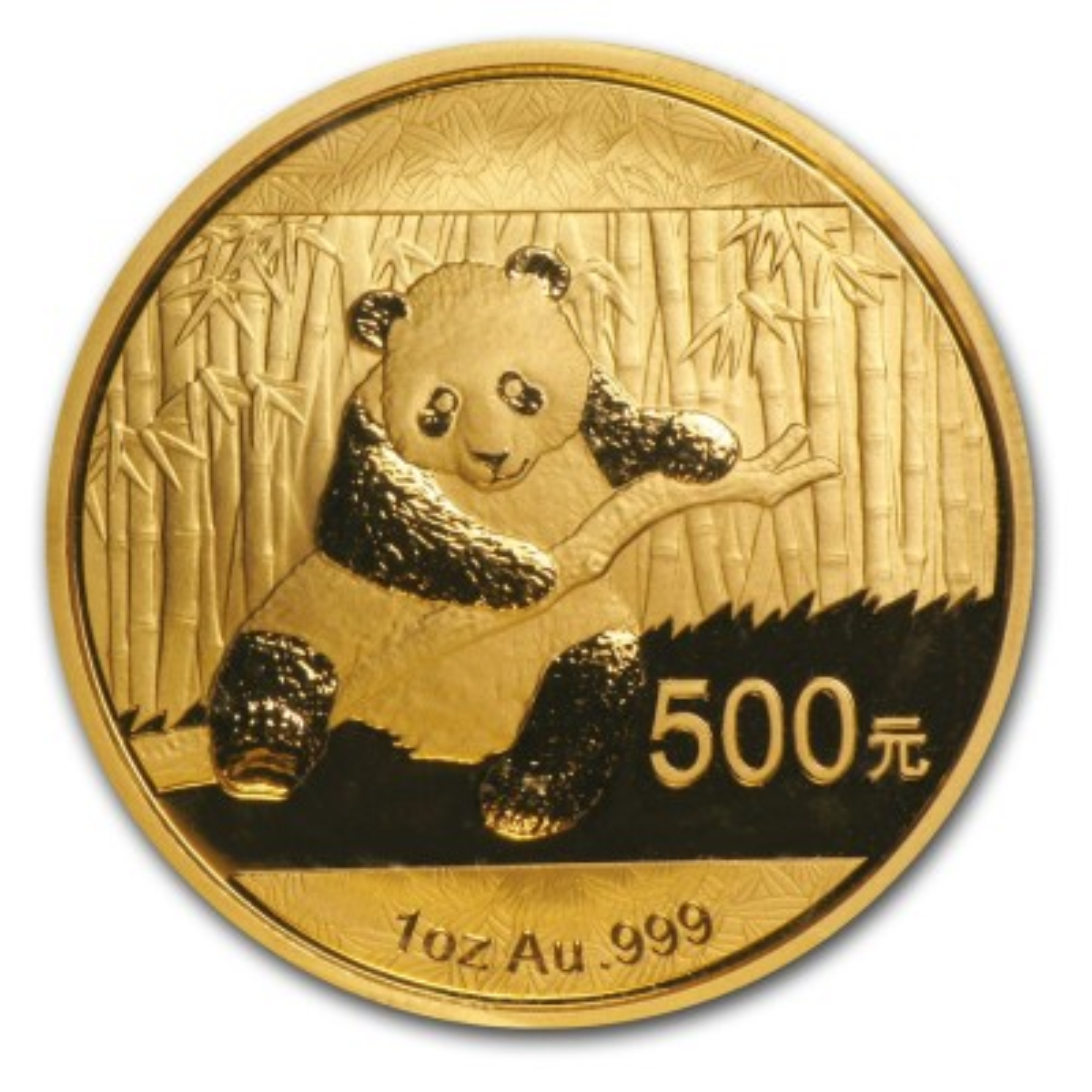 1 Troy ounce gouden Panda munt 2014