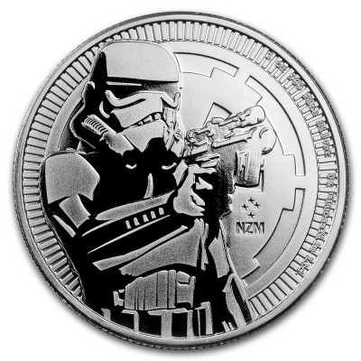 1 Troy ounce zilveren munt Star Wars Stormtrooper 2018