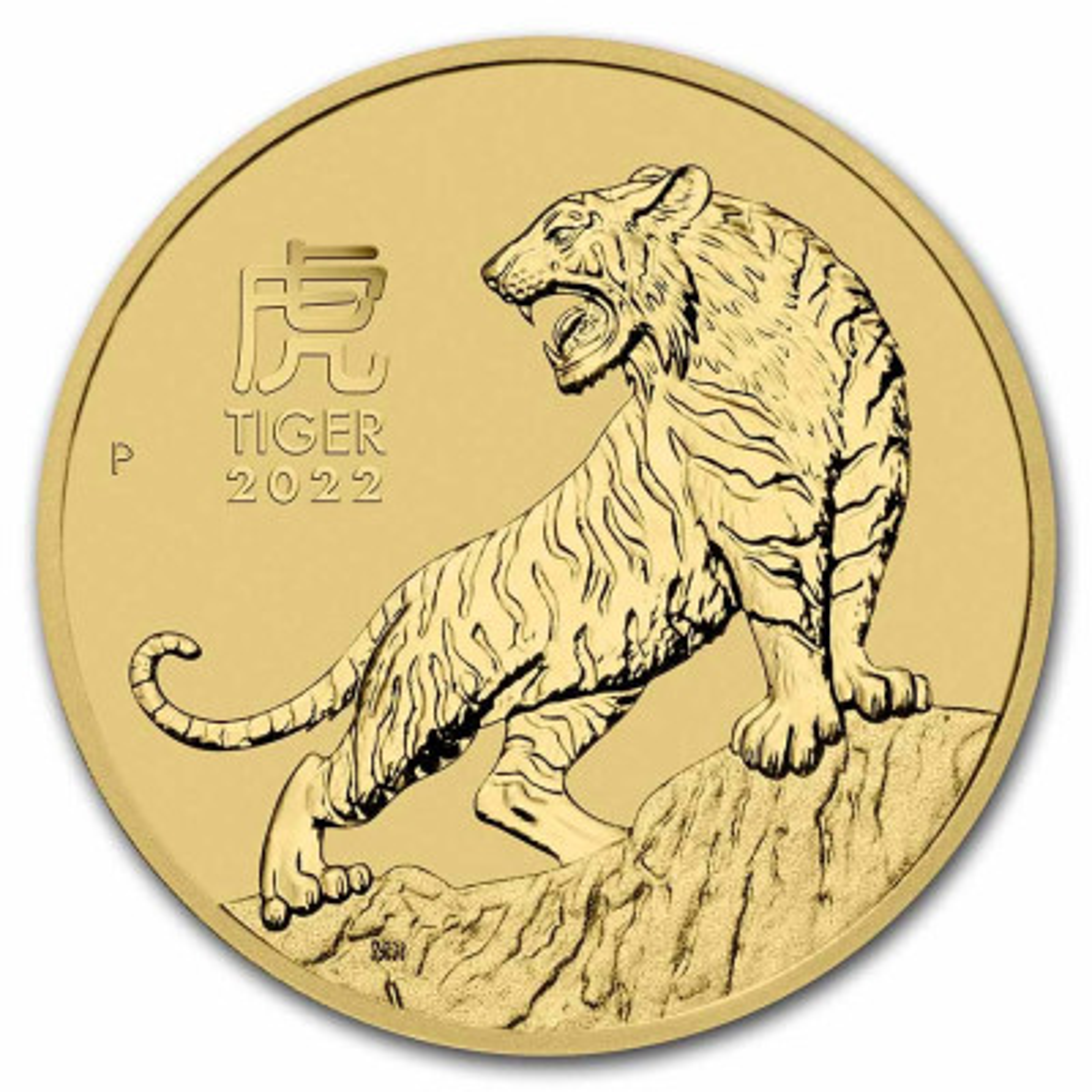 1/4 Troy ounce gouden munt Lunar 2022 jaar van de tijger