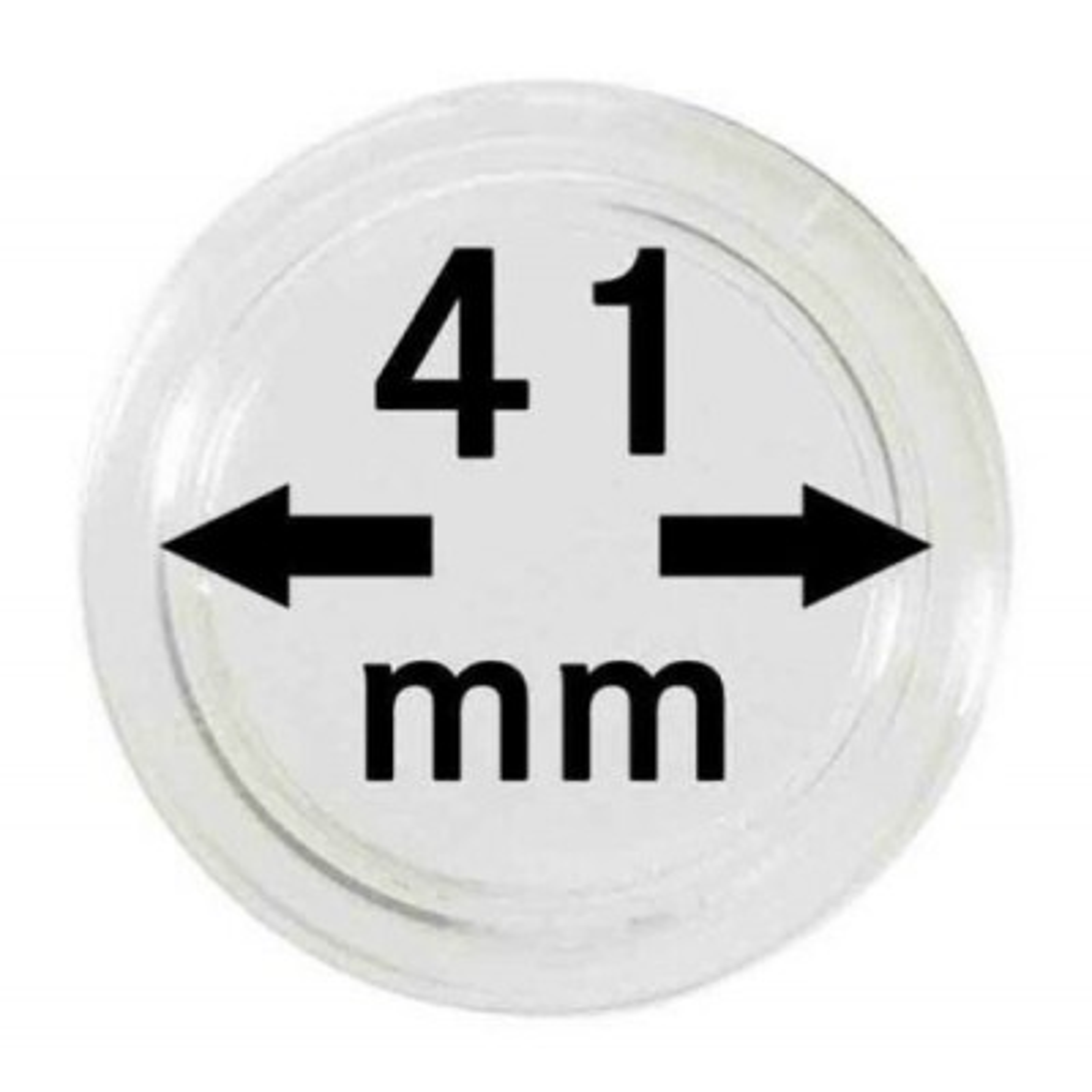 Capsules zilveren munten 41 mm
