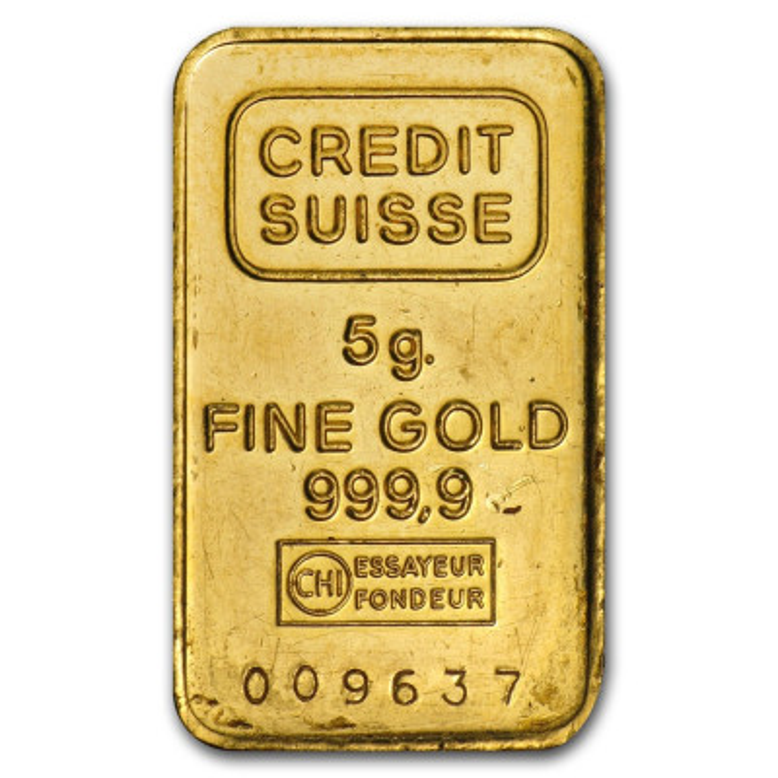 5 Gram goudbaar LBMA