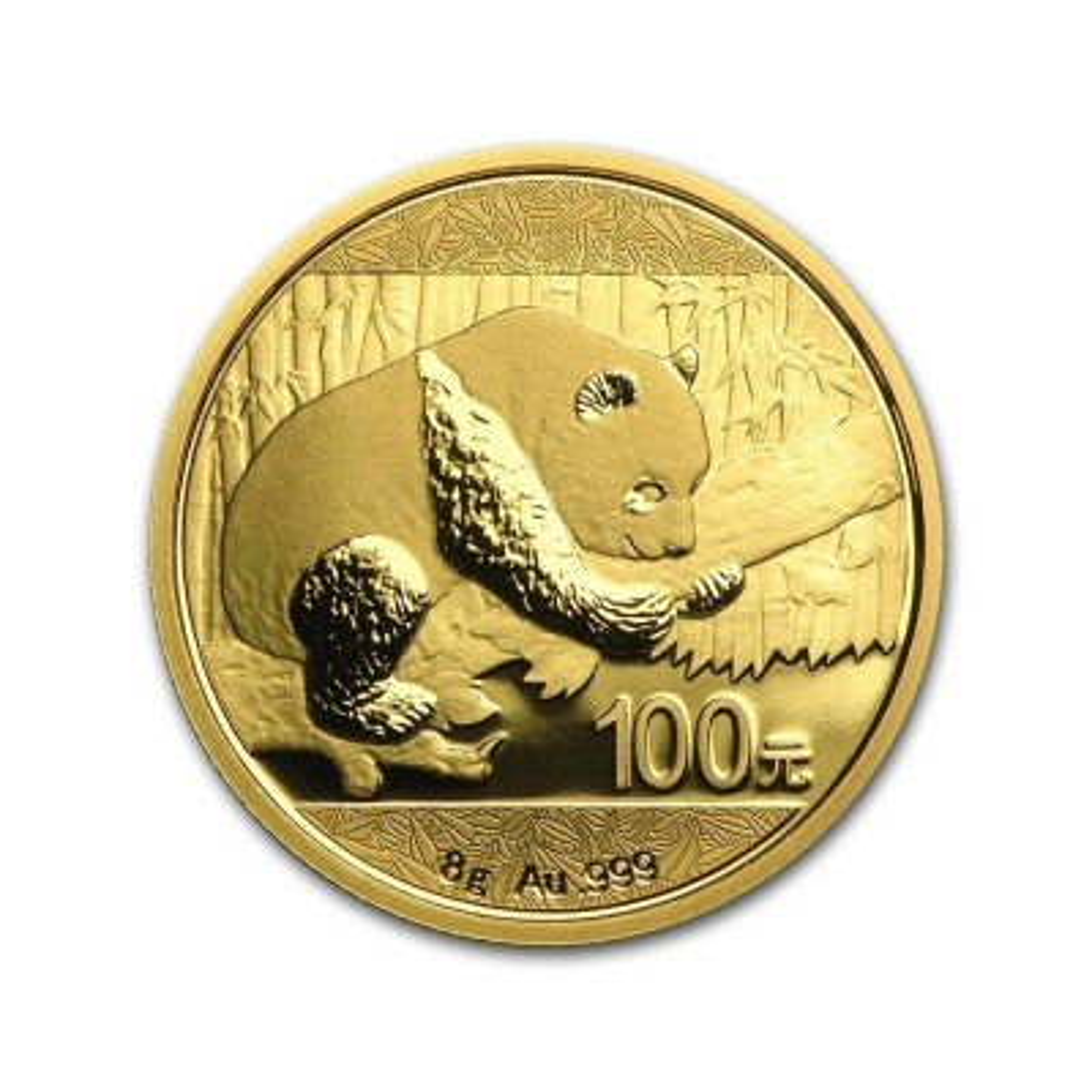 8 Gram gouden Panda munt 2016