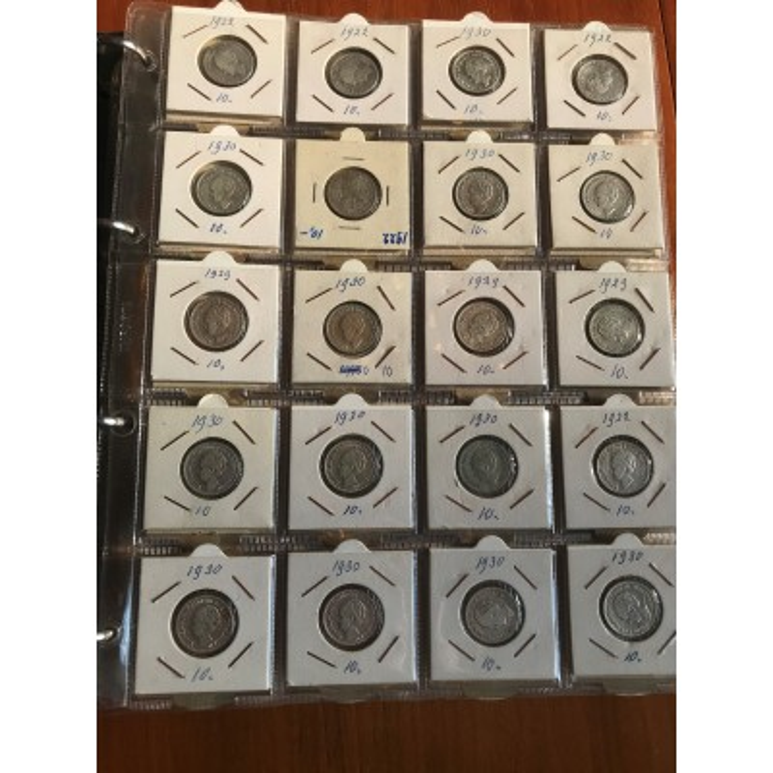 Nederlandse muntenalbums - halve guldens, guldens, rijksdaalders en zilveren tientjes