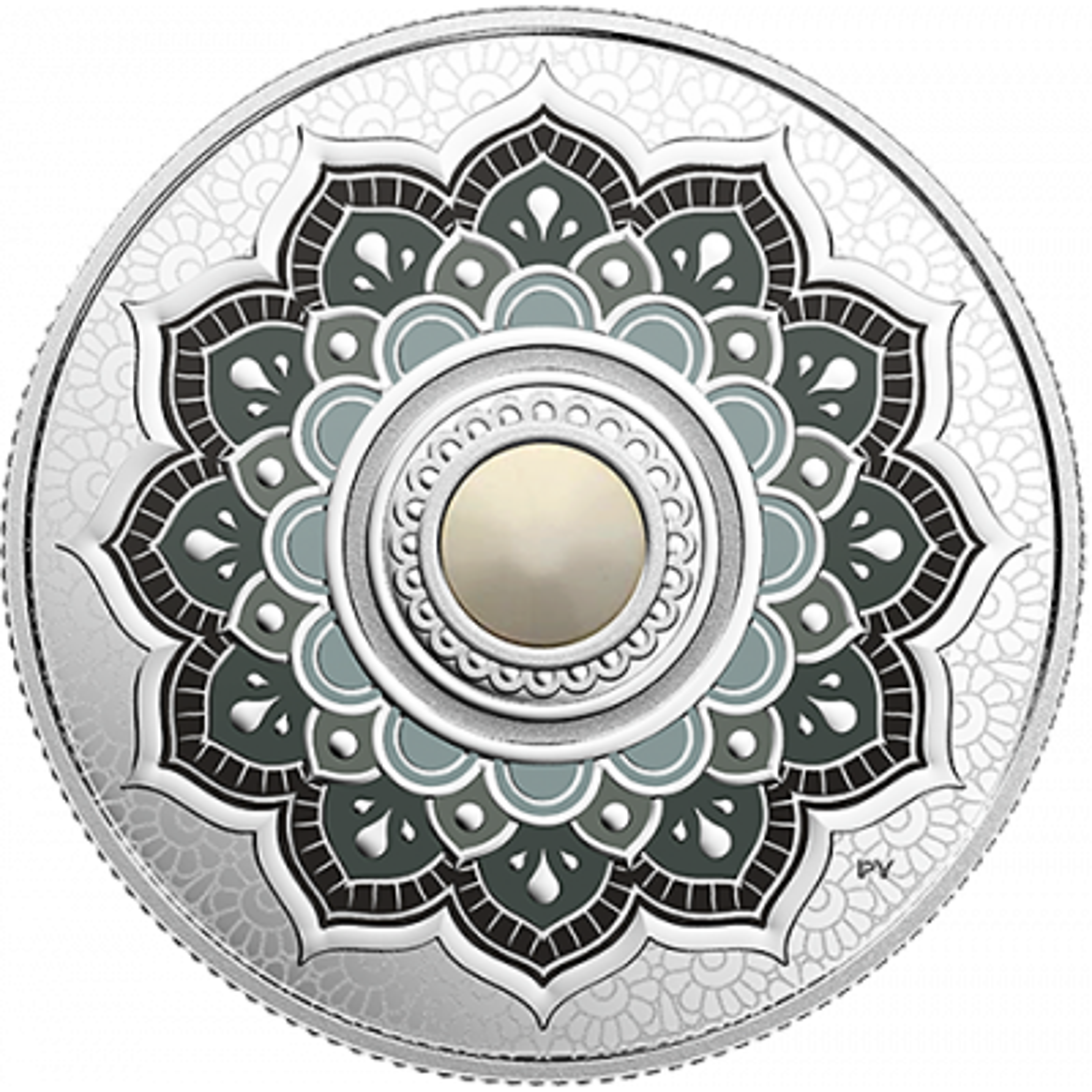 Zilveren munt Juni Birthstone Swarovski