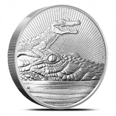 2 Troy ounce zilveren munt Next Generation - Crocodile 2019