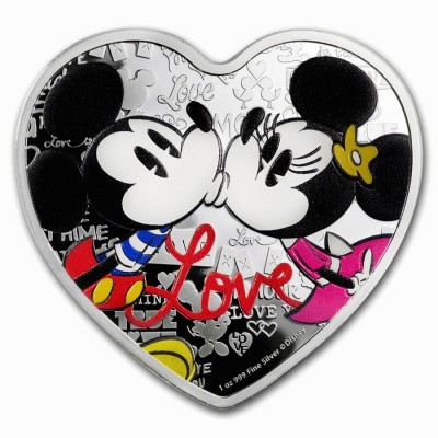 1 Troy ounce zilveren munt Disney Love 2019