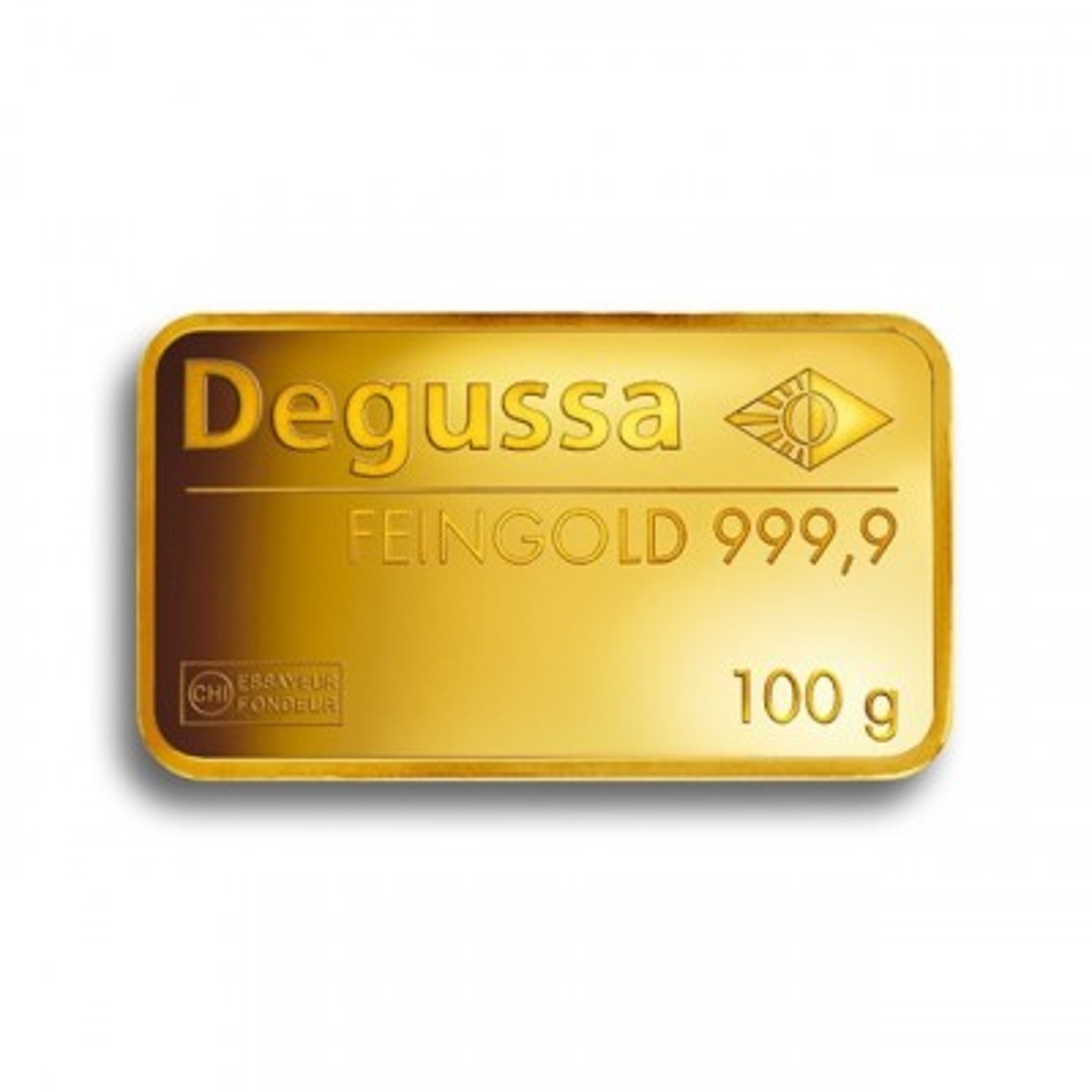 100 Gram goudbaar Degussa