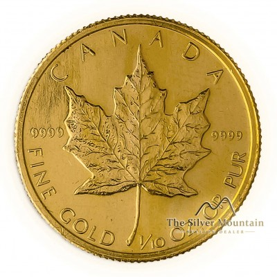 1/10 troy ounce gouden Maple Leaf munt