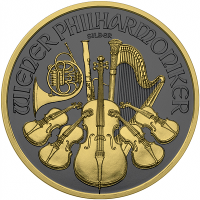 1 Troy ounce zilveren munt Golden Ring - Philharmoniker 2019