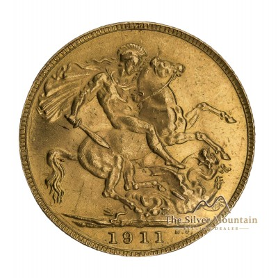 Goud 1/2 Sovereign munt