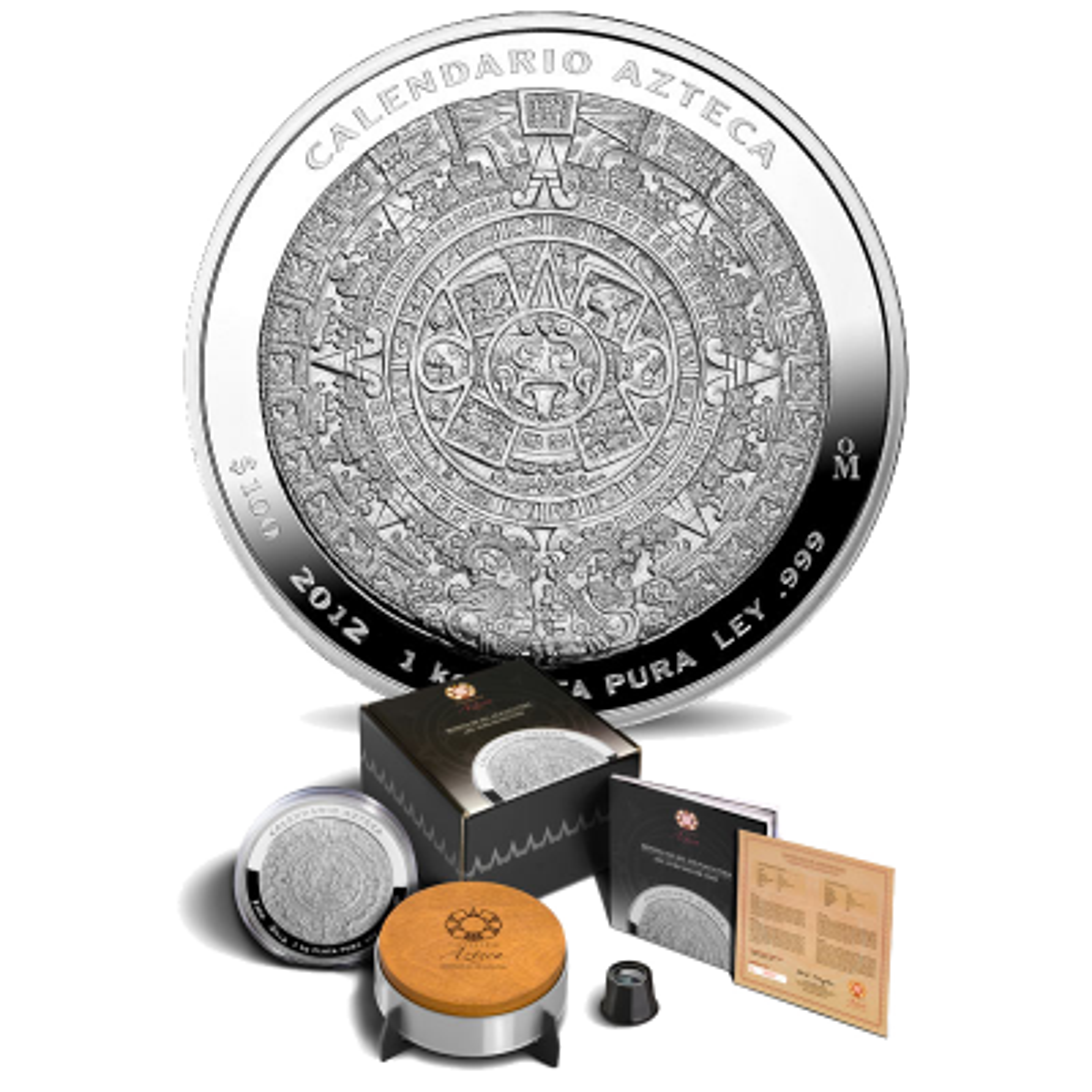 Azteekse kalender kilo zilver munt 2015