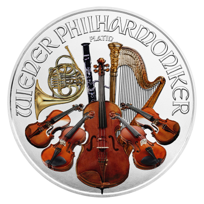 1 Troy ounce zilveren munt Philharmoniker 2016 Color Edition