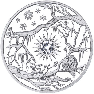 2 Troy ounce zilveren munt Niue Winter 2017