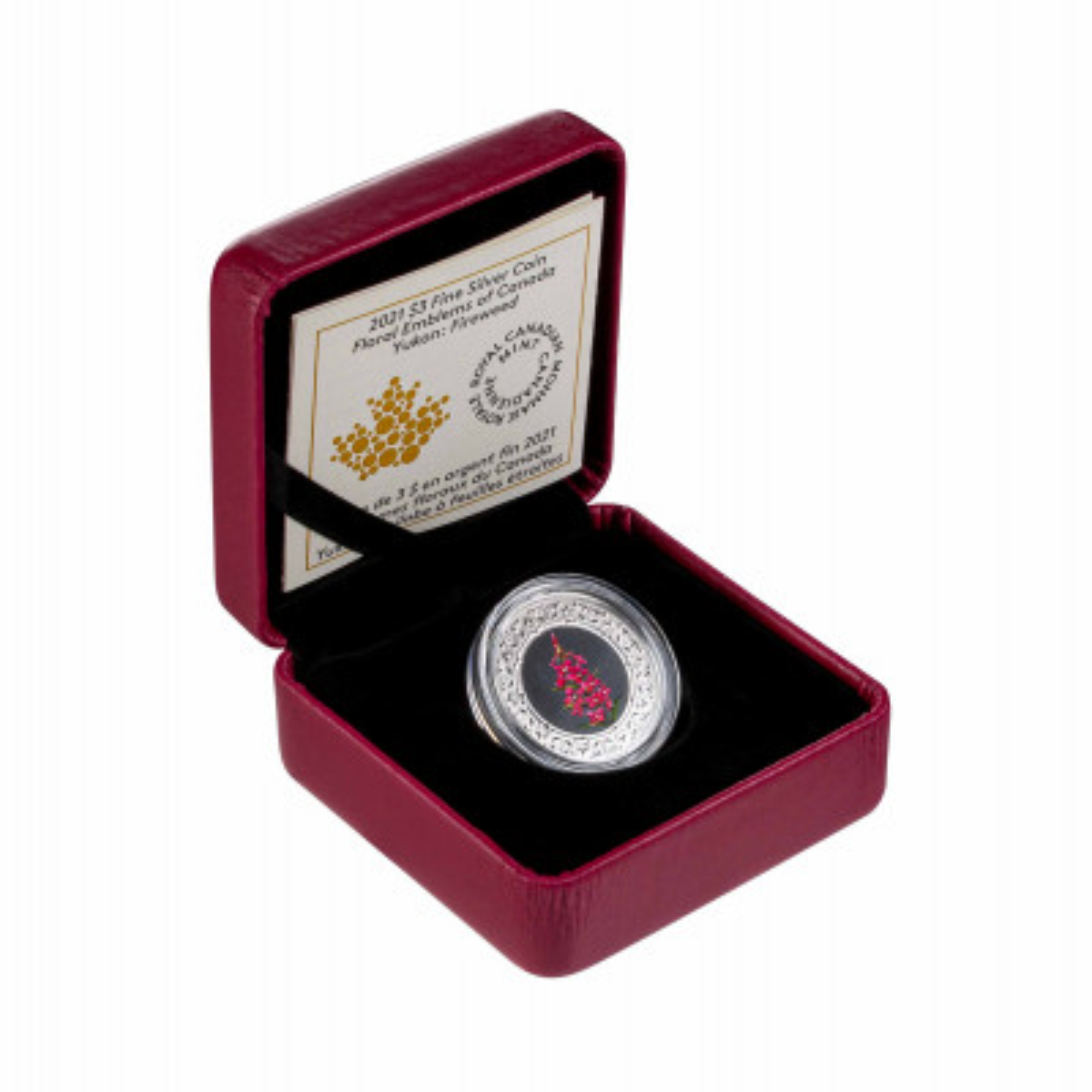 Zilveren munt Bloemenemblemen van Canada Wilgenroosje