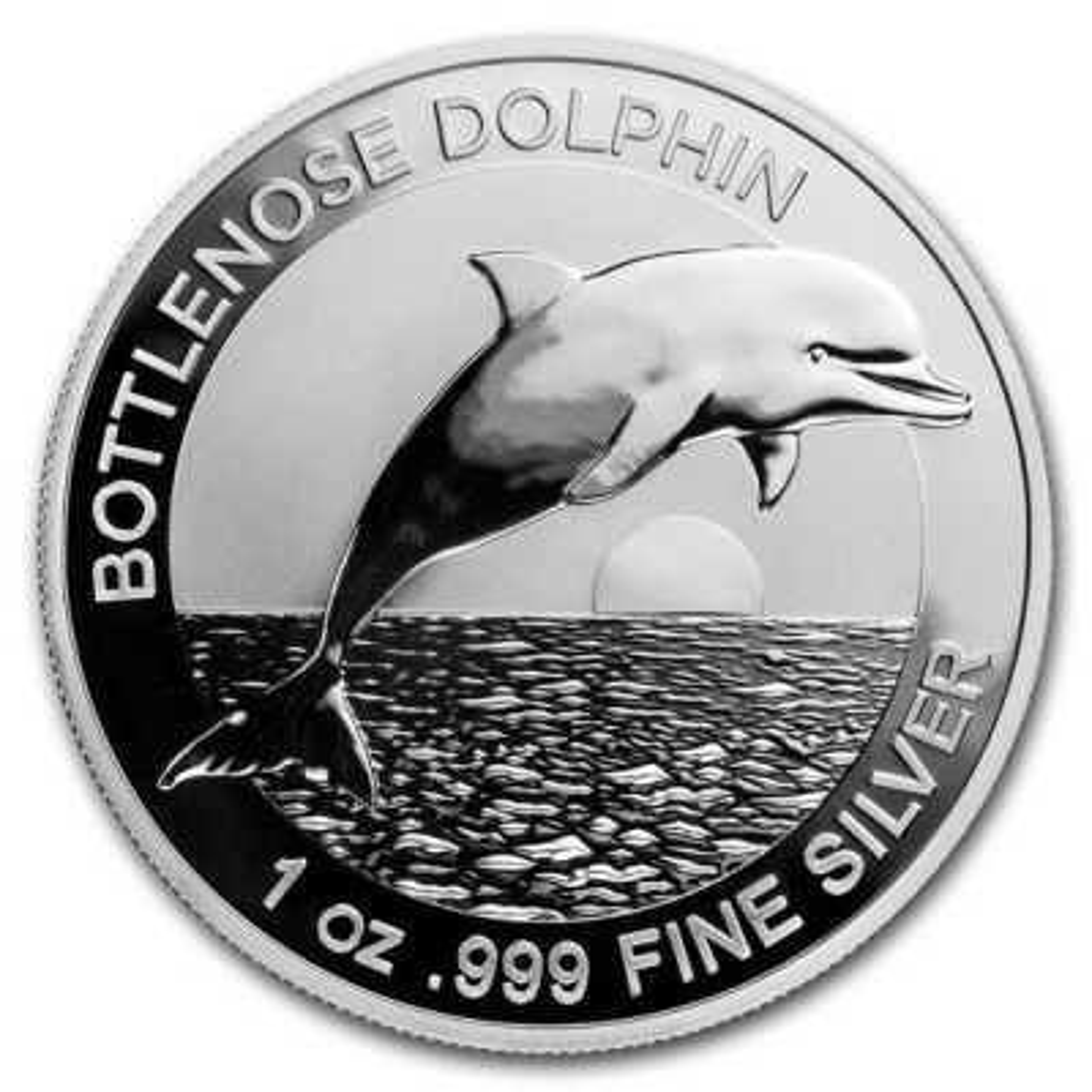 1 Troy ounce zilveren munt Bottlenose Dolphin 2019