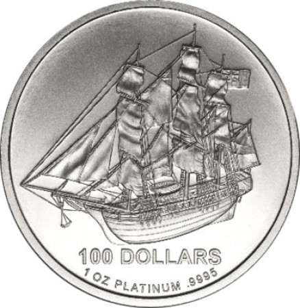 1 Troy ounce platinum Cook Islands munt