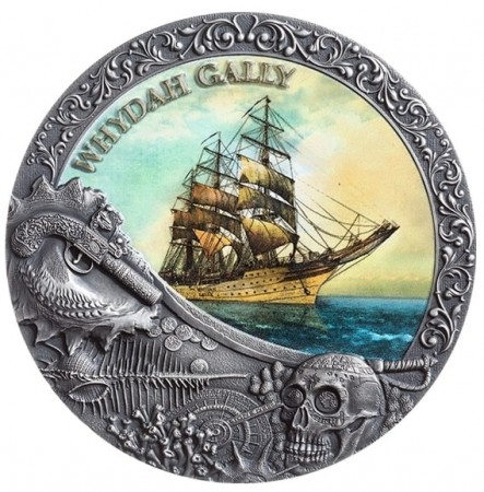 2 troy ounce zilveren munt Whydah Gally 2019