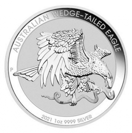 1 Troy ounce zilveren munt Wedge Tailed Eagle 2021