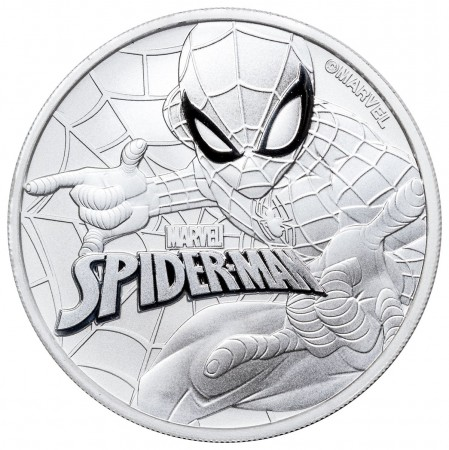 1 Troy ounce zilveren munt Spiderman