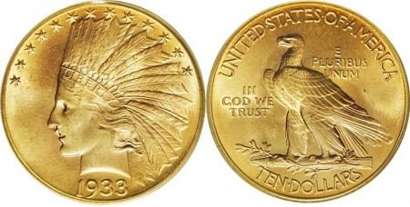 $10 gouden Indian Head munt