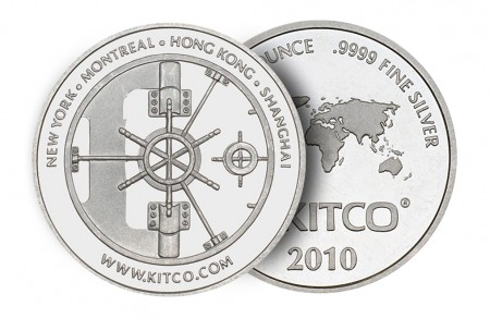 1 Troy ounce silver round Kitco