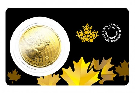 1 Troy ounce gouden munt Canadian Moose 2019