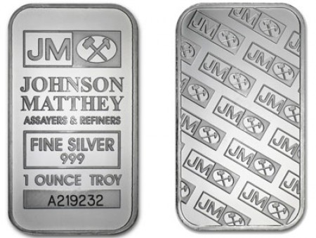 1 Troy ounce zilver baar Johnson Matthey