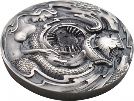 3 oz zilveren munt Scylla and Charybdis Evil Within 2020