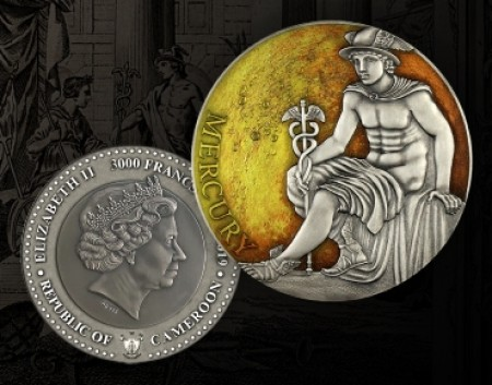 3 Troy ounce zilveren munt Planets and Gods - Mercury