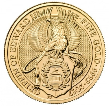 1 Troy ounce gouden munt Queens Beasts Griffin