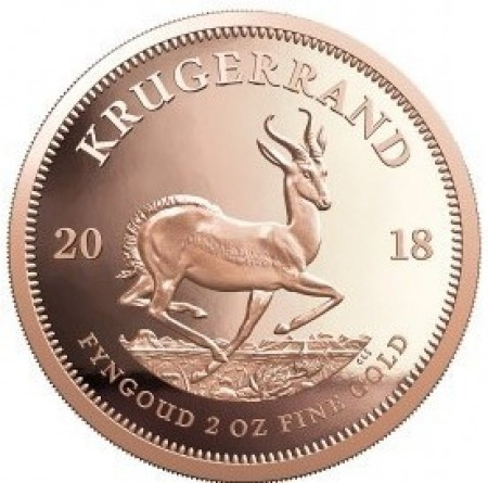 2 Troy ounce gouden munt Krugerrand 2018 Proof
