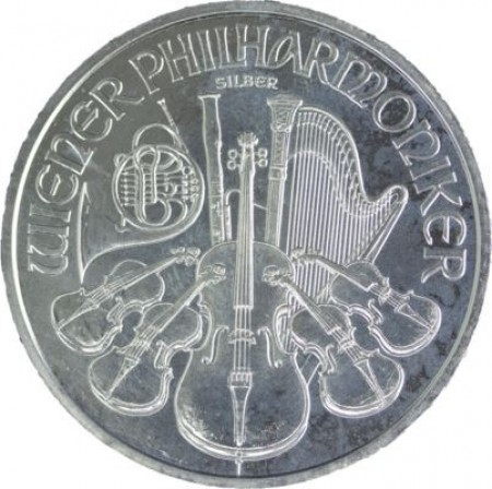 1 Troy ounce zilveren Philharmoniker circulated