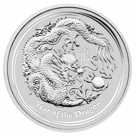 2012 lunar zilver munt Perth Mint Year of the Dragon