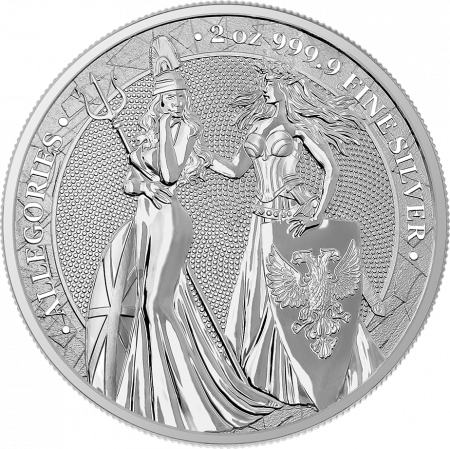 2 Troy ounce zilveren munt Germania Allegories 2019