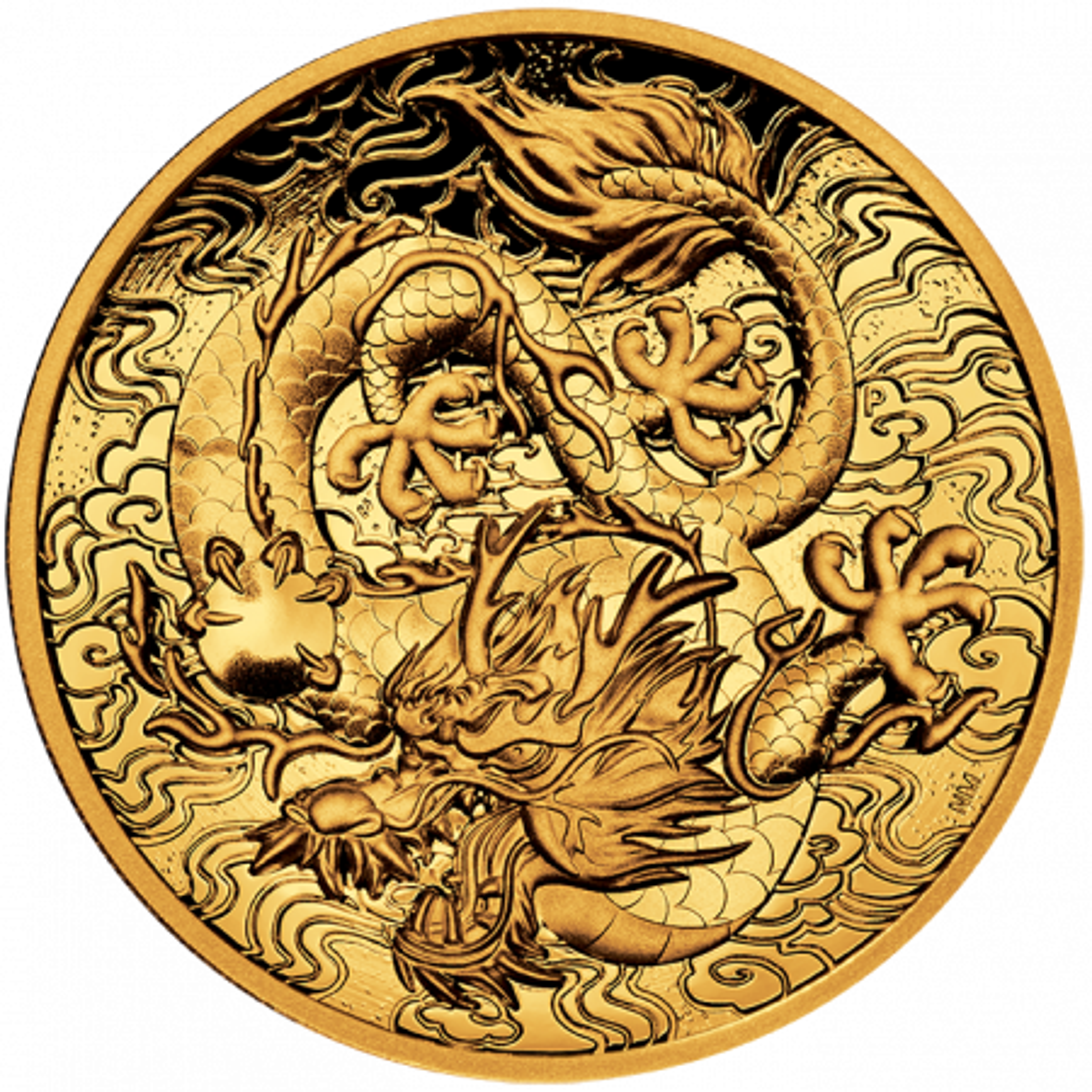 2 troy ounce gouden munt mythen en legendes dragon 2021 Proof
